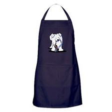 Penguin Sled Samoyed Apron (dark)