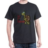 Walking Turtle Black T-Shirt