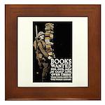 Books Wanted Poster Art Framed Tile