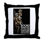 Books Wanted Poster Art Throw Pillow