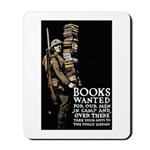 Books Wanted Poster Art Mousepad