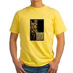 Books Wanted Poster Art Yellow T-Shirt