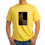 Books Wanted Poster Art (Front) Yellow T-Shirt