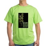 Books Wanted Poster Art Green T-Shirt