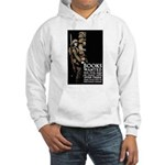 Books Wanted Poster Art (Front) Hooded Sweatshirt