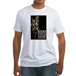 Books Wanted Poster Art (Front) Fitted T-Shirt