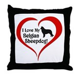 Belgian sheepdog Throw Pillows