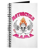 MotorCycle Mama' Winged Skull Journal