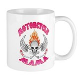MotorCycle Mama' Winged Skull Coffee Mug