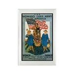Woman's Land Army Rectangle Magnet (10 pack)