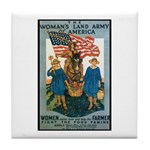 Woman's Land Army Tile Coaster