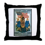 Woman's Land Army Throw Pillow