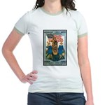 Woman's Land Army (Front) Jr. Ringer T-Shirt