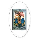 Woman's Land Army Oval Sticker