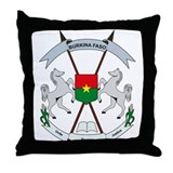 Burkina Faso Coat of Arms Throw Pillow