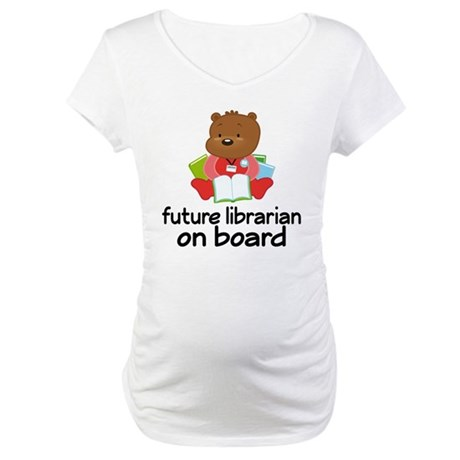 Future Librarian On Board Maternity T-Shirt