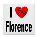 I Love Florence Italy Tile Coaster