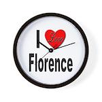 I Love Florence Italy Wall Clock