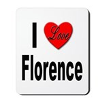 I Love Florence Italy Mousepad