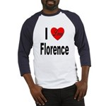I Love Florence Italy (Front) Baseball Jersey
