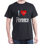 I Love Florence Italy (Front) Black T-Shirt