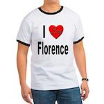 I Love Florence Italy Ringer T