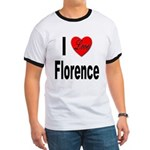 I Love Florence Italy (Front) Ringer T