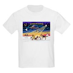 Xmas Sunrise - Five Dogs Kids Light T-Shirt