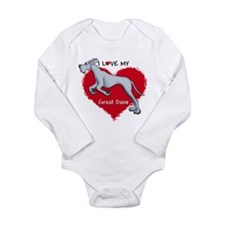 Love Blue Dane UC Long Sleeve Infant Bodysuit