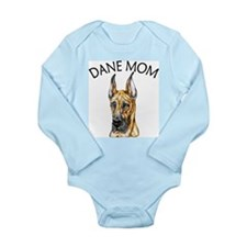Brindle Dane Mom Long Sleeve Infant Bodysuit