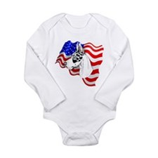 Patriot Dane Harlequin Long Sleeve Infant Bodysuit