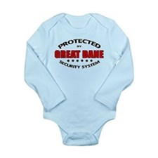 Great Dane Security Long Sleeve Infant Bodysuit