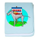 Blue Dane Pi$$ on Obama Infant Blanket