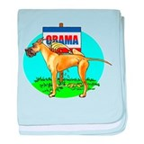Fawn Dane Pi$$ on Obama Infant Blanket