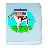 Harle Dane Pi$$ on Obama Infant Blanket