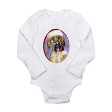 Santa Dane Brindle UC Long Sleeve Infant Bodysuit