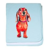 Red Dachshund Infant Blanket