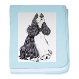 Cocker Spaniel BW Parti Infant Blanket