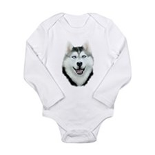 Siberian Husky Long Sleeve Infant Bodysuit