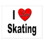 I Love Skating Small Poster