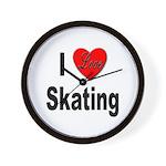 I Love Skating Wall Clock