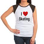 I Love Skating (Front) Women's Cap Sleeve T-Shirt