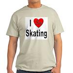 I Love Skating (Front) Ash Grey T-Shirt