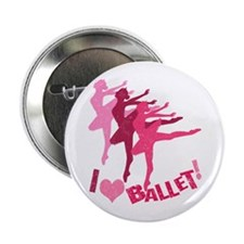 "I Love Ballet 2.25"" Button"