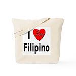 I Love Filipino Tote Bag