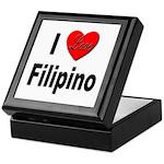 I Love Filipino Keepsake Box