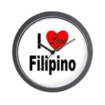 I Love Filipino Wall Clock