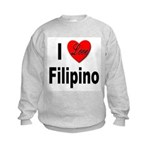 I Love Filipino Kids Sweatshirt