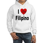 I Love Filipino (Front) Hooded Sweatshirt