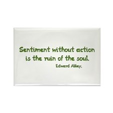 Sentiment Without Action Rectangle Magnet